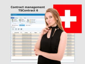 Contract management Swiss francs
