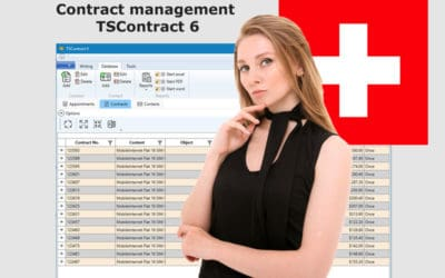 Contract management Swiss francs